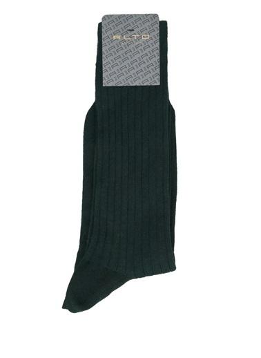 Alto Socks Alto Socks  Çizgi Dokulu Erkek Çorap 101643911 Yeşil
